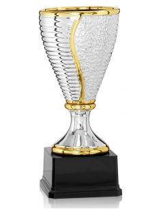 Coupe en céramique argentée et dorée avec socle en abs de 17 à 37 cm