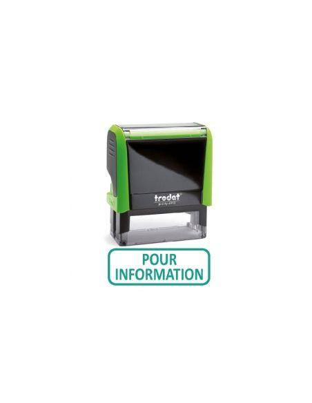 """Tampon encreur """" pour information """" formule commerciale xprint trodat 4992.21"""