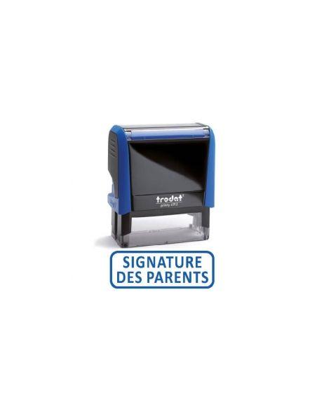 """Tampon encreur """" SIGNATURE DES PARENTS """" formule commerciale xprint trodat 4992.59"""