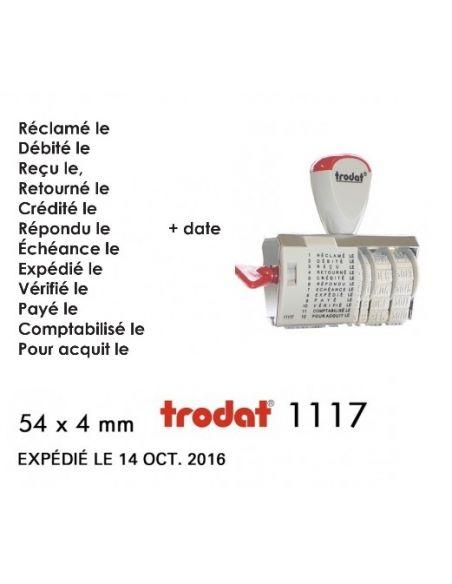 tampon dateur multiformules date 4 mm encrage séparé trodat 1117 4x54 mm
