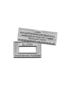 Empreinte de remplacement avec logo format 40 x 70mm maxi pour tampon encreur