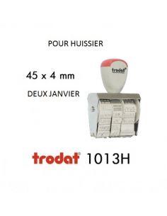 tampon dateur huissier 1013H 4mm avec jour et date en lettre