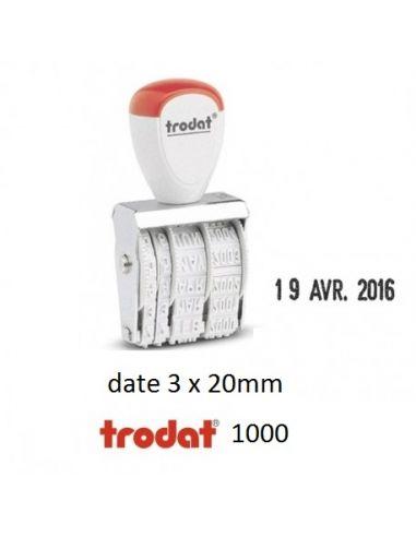 Tampon dateur date 3 x 20 mm encrage séparé trodat 1000
