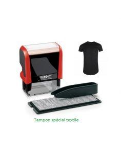 Tampon encreur 3 lignes spécial textile à faire soi-même typomatic Trodat 4951CM typomatic