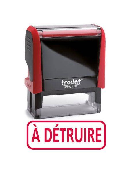 """Tampon encreur """" à détruire """" formule commerciale xprint trodat 4992.52"""