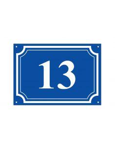 Numéro de maison 15x20cm en plexi, épaisseur 3 mm, couleurs aux choix