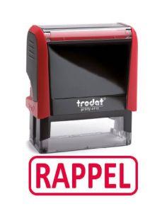 """Tampon encreur """" rappel """" formule commerciale xprint trodat 4992.08"""