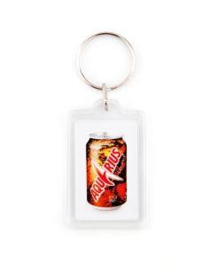 Porte clé en plastique 1 face personnalisé + Jeton Caddie
