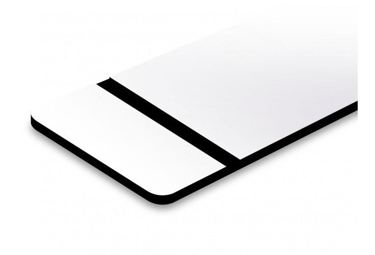 plaque blanche texte en noir