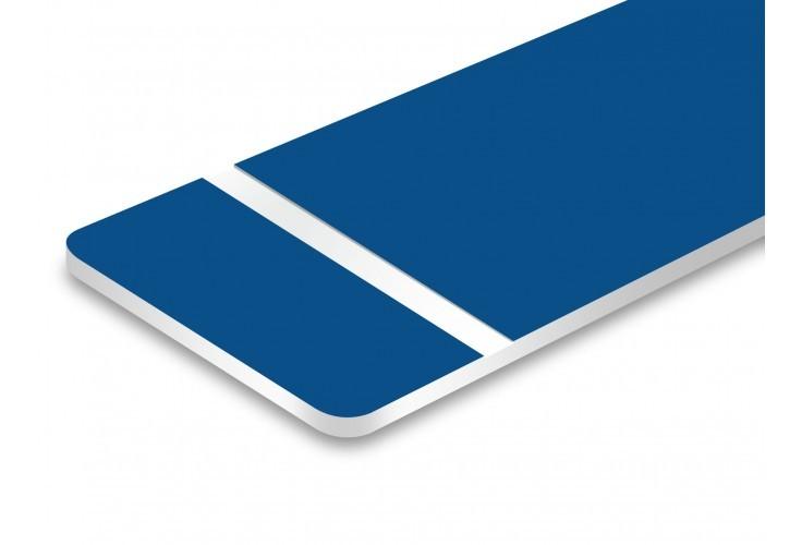 plaque bleu texte blanc