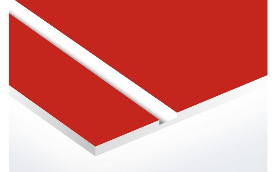 plaque rouge texte blanc