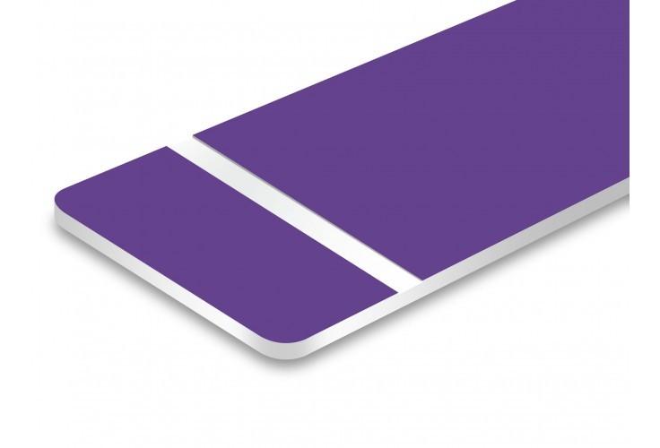 plaque violet texte blanc