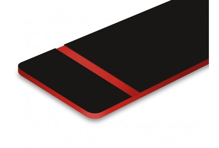 plaque noire texte rouge