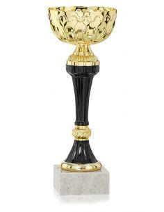 Coupe dorée avec socle en marbre de 17 à 24 cm