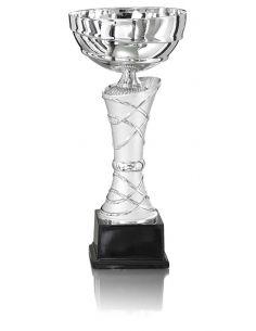 Coupe argentée avec socle en marbre de 25 à 35 cm