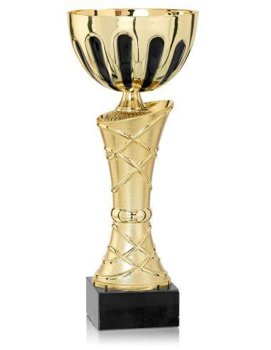 Coupe dorée avec socle en marbre de 25 à 35 cm
