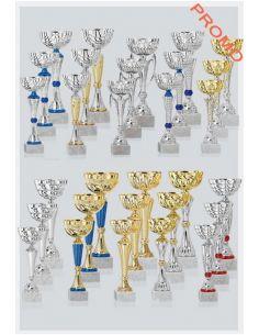 Lot de 30 coupes dorées et argentées de 29,5 cm
