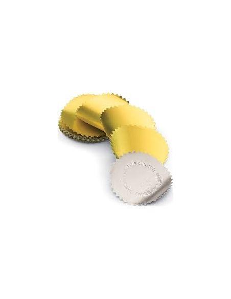 Étiquettes adhésives à gaufrer couleur or 20 étiquettes