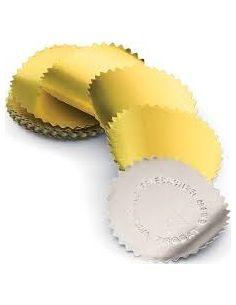 Étiquettes adhésives à gaufrer couleur argent 20 etiquettes