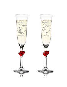 flute à champagne personnalisé pour mariage fiancaille anniversaire