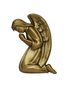 ange funéraire en bronze pour plaque hauteur 11 cm