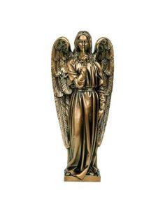 ange funéraire silence en bronze pour plaque hauteur 35 cm