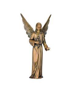 statue ange funéraire en bronze pour plaque hauteur95 cm