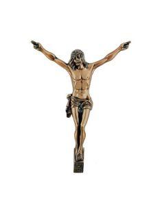 Christ funéraire  en bronze pour plaque hauteur 42