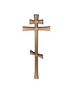 croix orthodoxe en bronze pour plaque funeraire hauteur 17cm