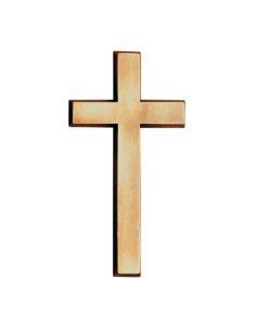 Croix classique en bronze pour plaque funeraire hauteur 7cm