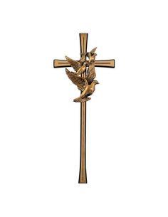 Croix classique en bronze pour plaque funeraire