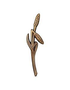 Fleur en bronze épi de blé pour plaque funéraire hauteur21cm