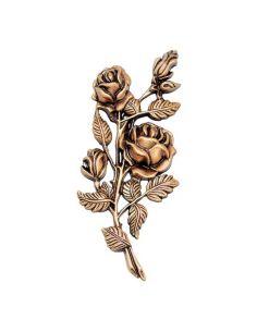 bouquet de rose en bronze pour plaque funéraire hauteur 18 cm