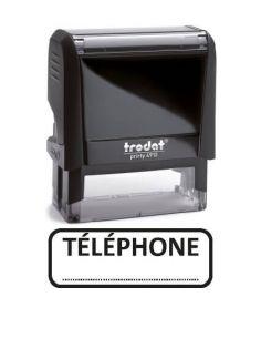 """Tampon encreur """" téléphone """" formule commerciale xprint trodat 4992.61"""