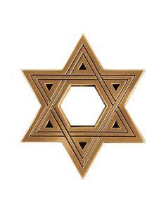 etoile de david bronze pour plaque funeraire