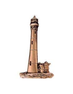 phare en bronze pour plaque mortuaire
