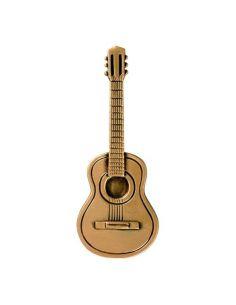 guitare en bronze pour plaque mortuaire