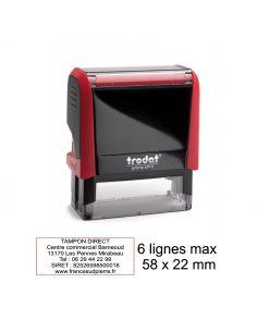 Tampon encreur Trodat Printy 4913 6 lignes max