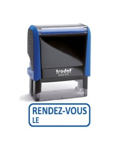 """Tampon encreur """" rendez vous le"""" formule commerciale xprint trodat 4992.58"""