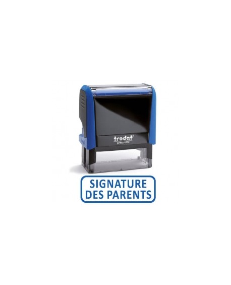 "Tampon encreur "" SIGNATURE DES PARENTS "" formule commerciale xprint trodat 4992.59"