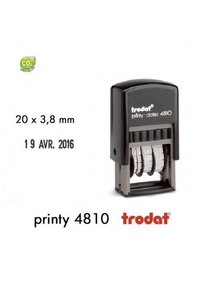 Mini tampon dateur 20 x 3,8mm ref 4810 trodat taille date 3,8mm