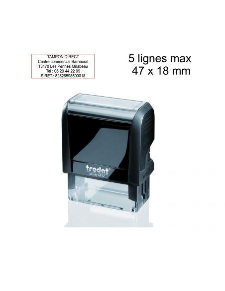 Tampon encreur personnalisé automatique 5 lignes Trodat Printy 4912 monochrome