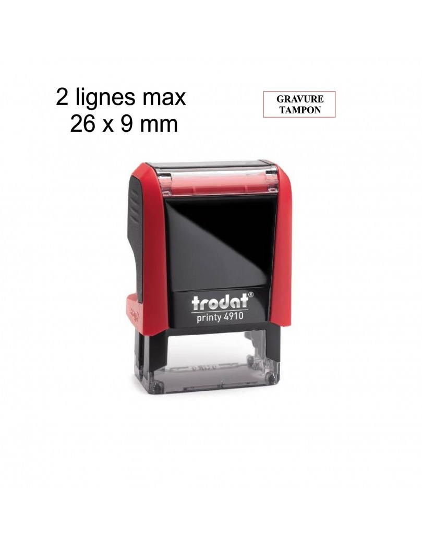 Tampon encreur Trodat Printy 4910 2 lignes max