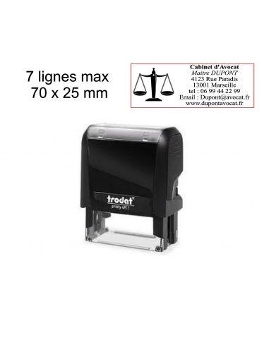 Tampon encreur Trodat Printy 4915 7 lignes max