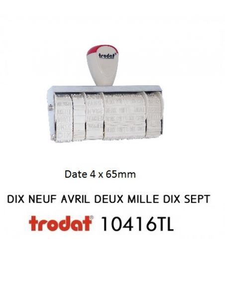 tampon dateur huissier 10416TL 4mm avec jour , mois et année en lettre