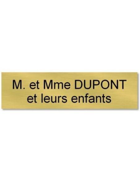 Plaque de porte 70x30mm etiquette personnalisée autocollante