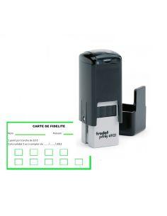 Tampon carte fidélité 12x12 mm personnalisé avec logo ou texte trodat 4921