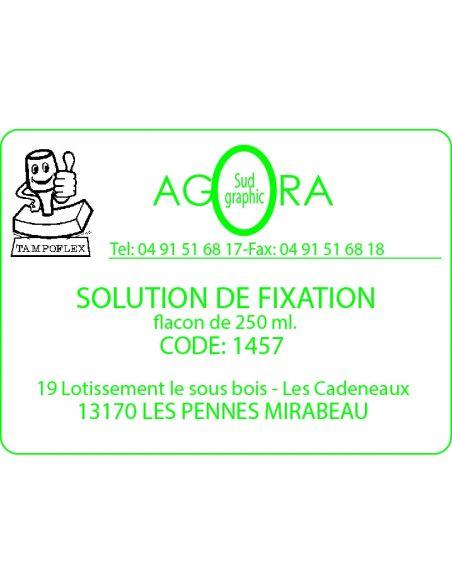 Solution de fixation 250ml pour la fabrication de tampon encreur marque tampoflex