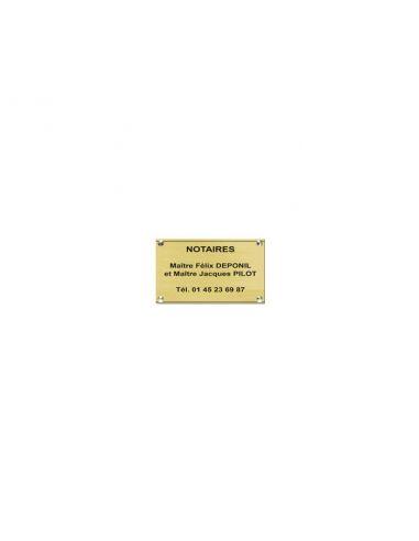 Plaque professionnelle 20x5cm en plexi, fond or, épaisseur 3 mm, 6 couleurs