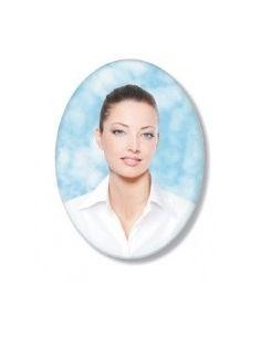 Médaillons ovale 11x15 cm photo funéraire porcelaine couleur pour portrait
